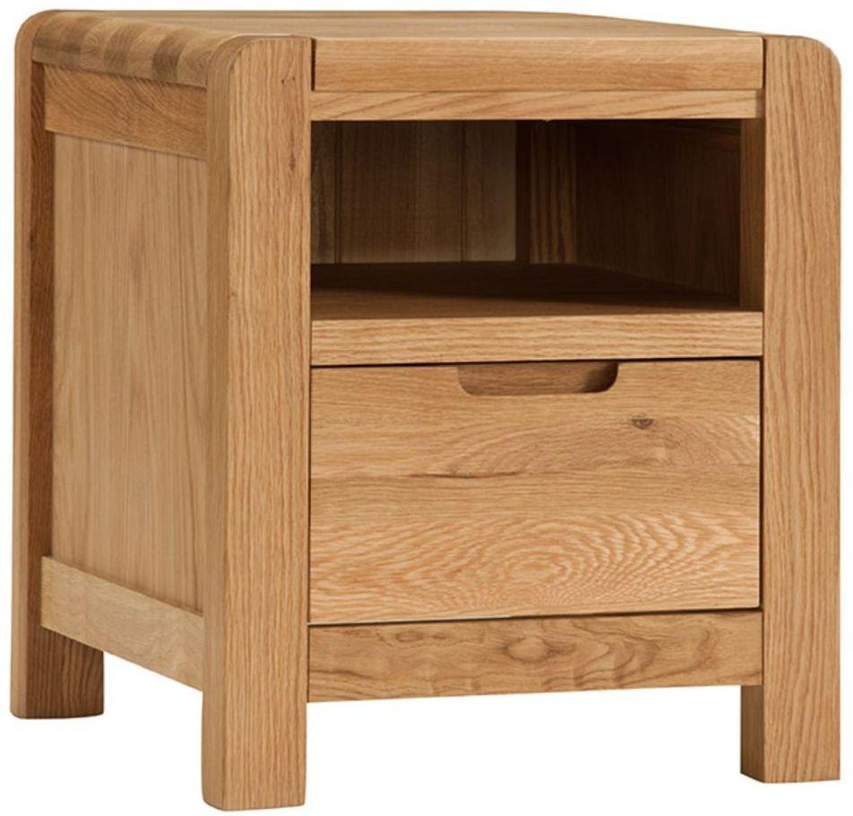 Oslo Oak Bedside Cabinet - 1 Drawer