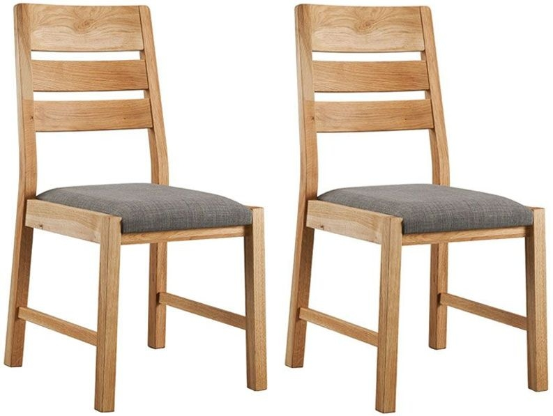 oslo oak dining chair pair. Black Bedroom Furniture Sets. Home Design Ideas