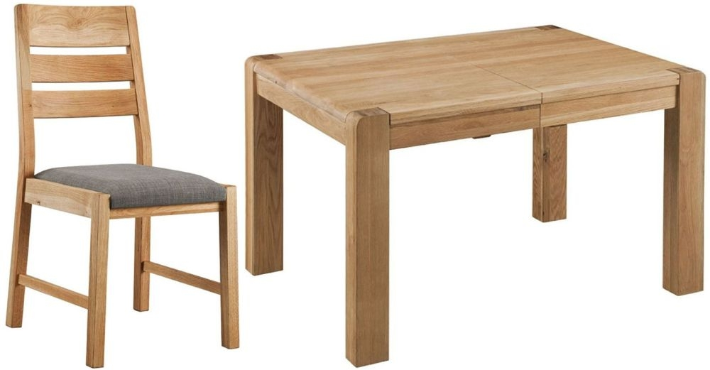 Oslo Oak Dining Set - Small Extending with 4 Chairs