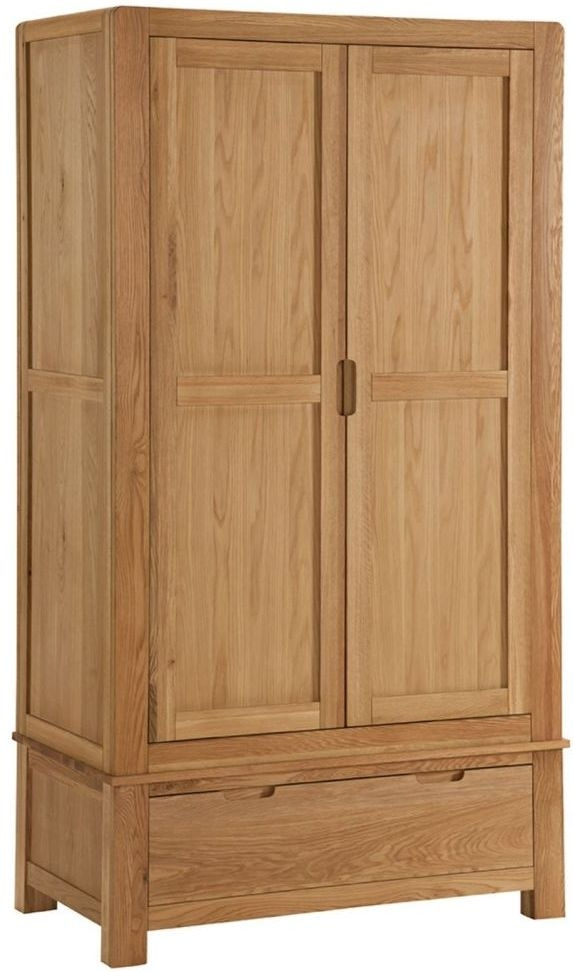 Oslo Oak Wardrobe - 2 Door 1 Drawer Gents