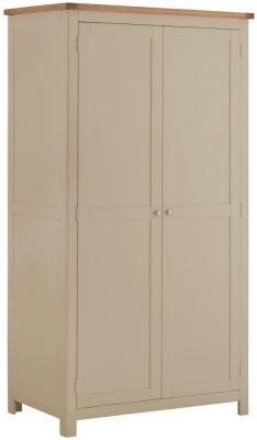 Portland Pebble Painted 2 Door Double Wardrobe