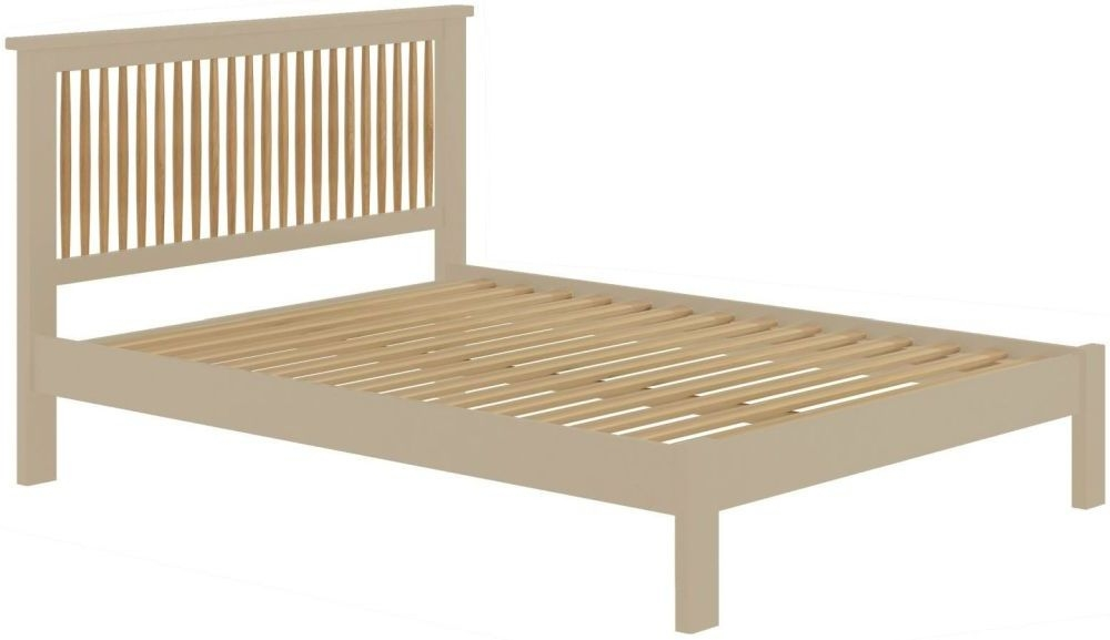 Portland 3ft Single Spindle Bed - Oak and Pebble Painted