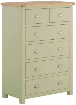 Portland Sage Painted 2 Over 4 Drawer Chest