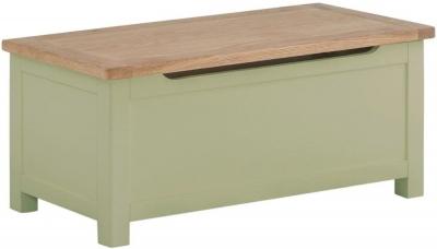 Portland Sage Painted Blanket Box