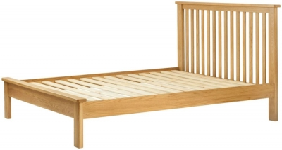 Portland Oak Slatted Bed