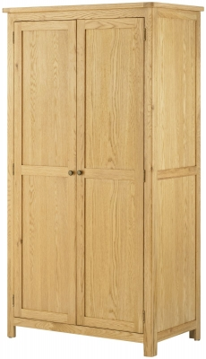 Portland Oak 2 Door Double Wardrobe