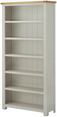 Portland Oak and Stone Painted Large Bookcase