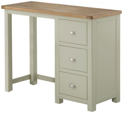 Portland Oak and Stone Painted Dressing Table