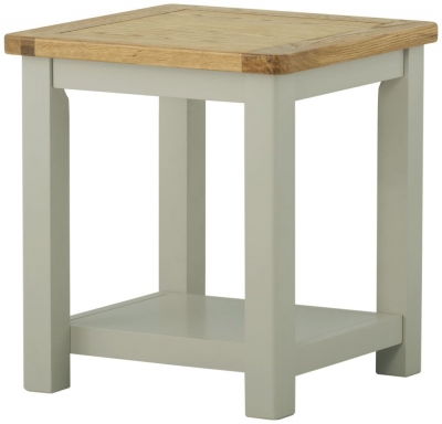 Portland Stone Painted Lamp Table
