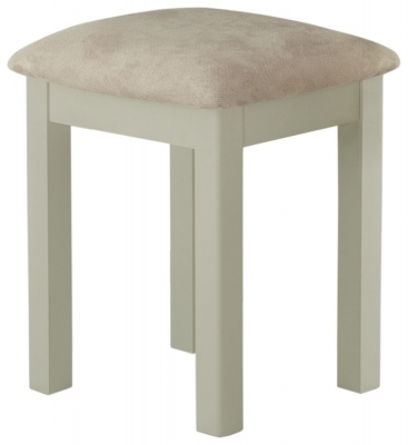 Portland Stone Grey Painted Stool