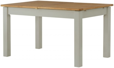Portland Stone Painted 120cm-200cm Draw Leaf Extending Dining Table