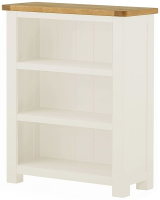 Portland Oak and White Painted Bookcase