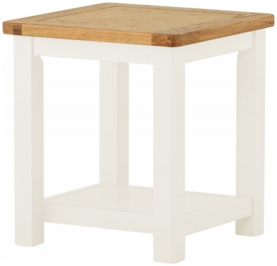 Portland White Painted Lamp Table