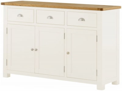 Portland White Painted 3 Door Sideboard