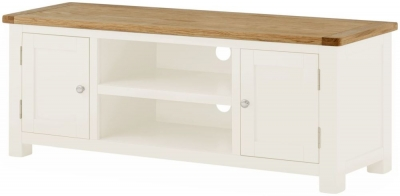 Portland White Painted Large TV Cabinet