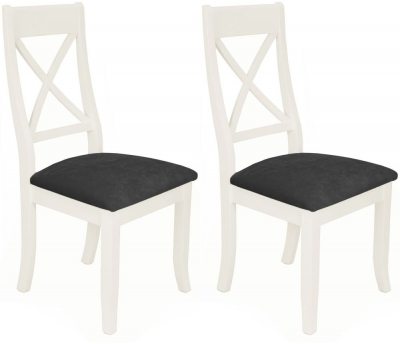 Portland White Painted Cross Back Dining Chair (Pair)