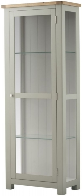 Portland Stone Painted Display Cabinet