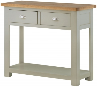 Portland Stone Grand Painted Console Table - 2 Drawer