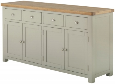 Portland Stone Grand Painted Sideboard - 4 Door 4 Drawer Wide