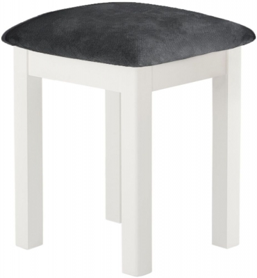 Portland White Painted Stool