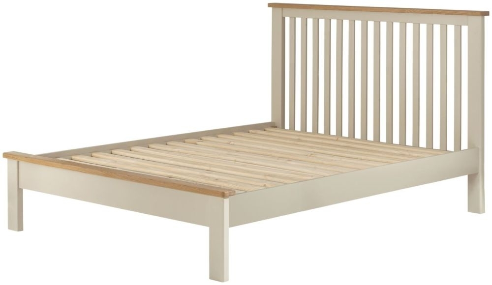 Portland Bed - Oak and Cream Painted