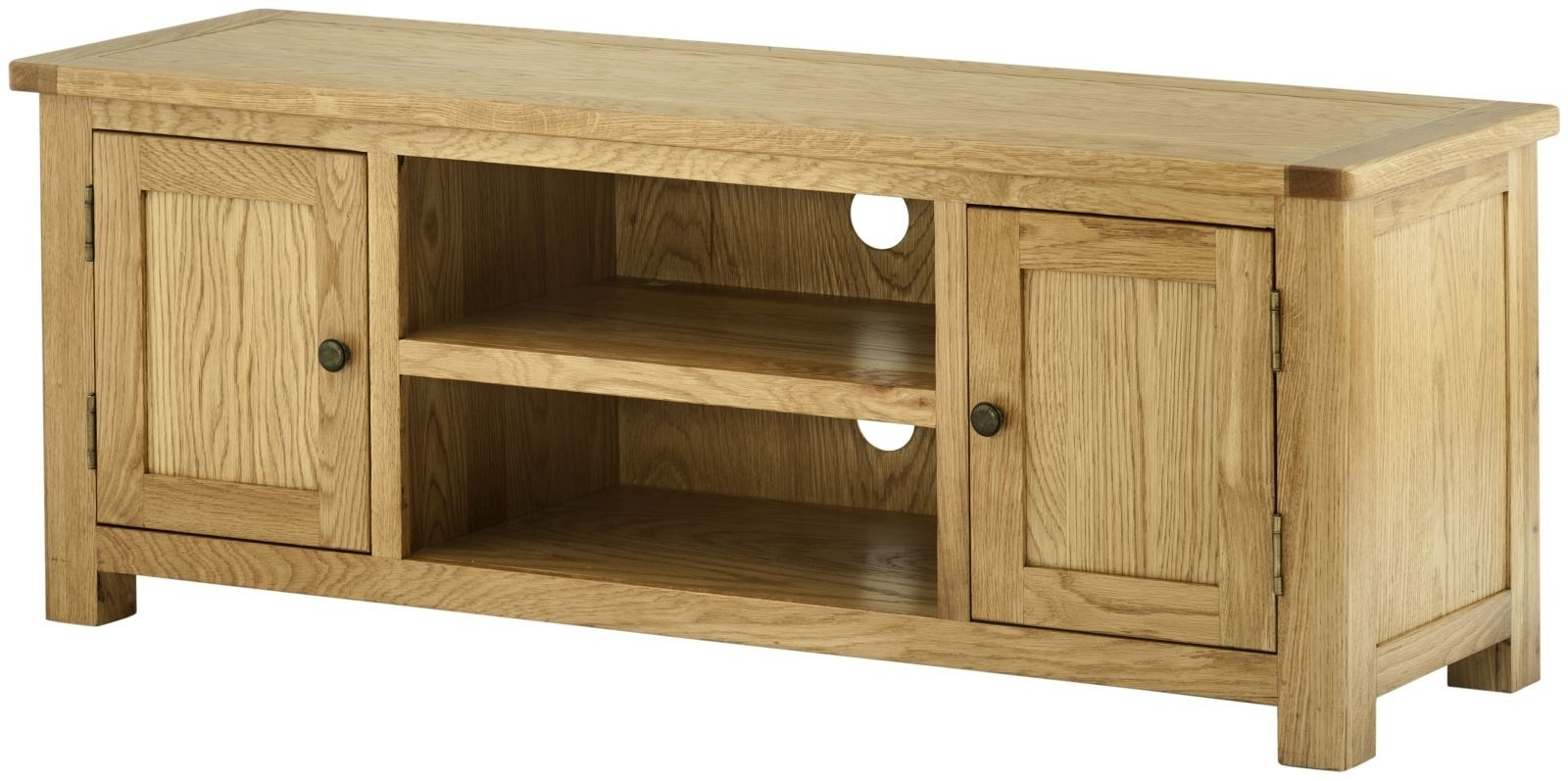 Portland Oak 2 Door Large TV Cabinet