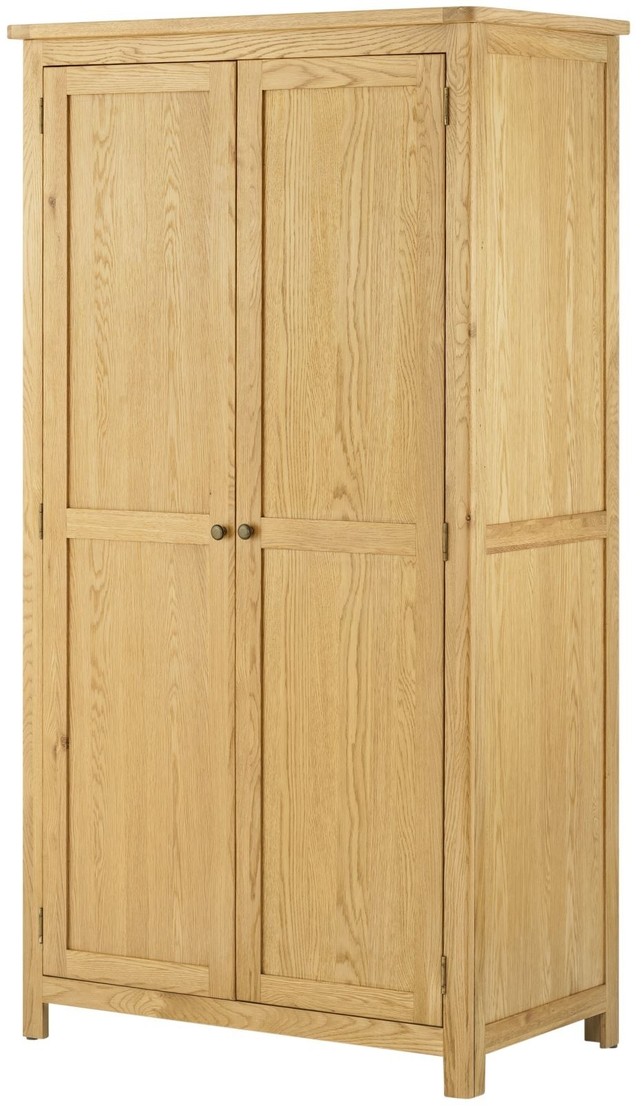 Portland Oak 2 Door Wardrobe