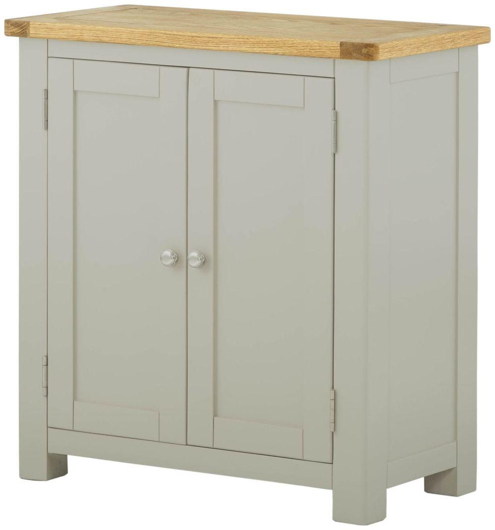 Portland Stone Grey Painted Cabinet - 2 Door