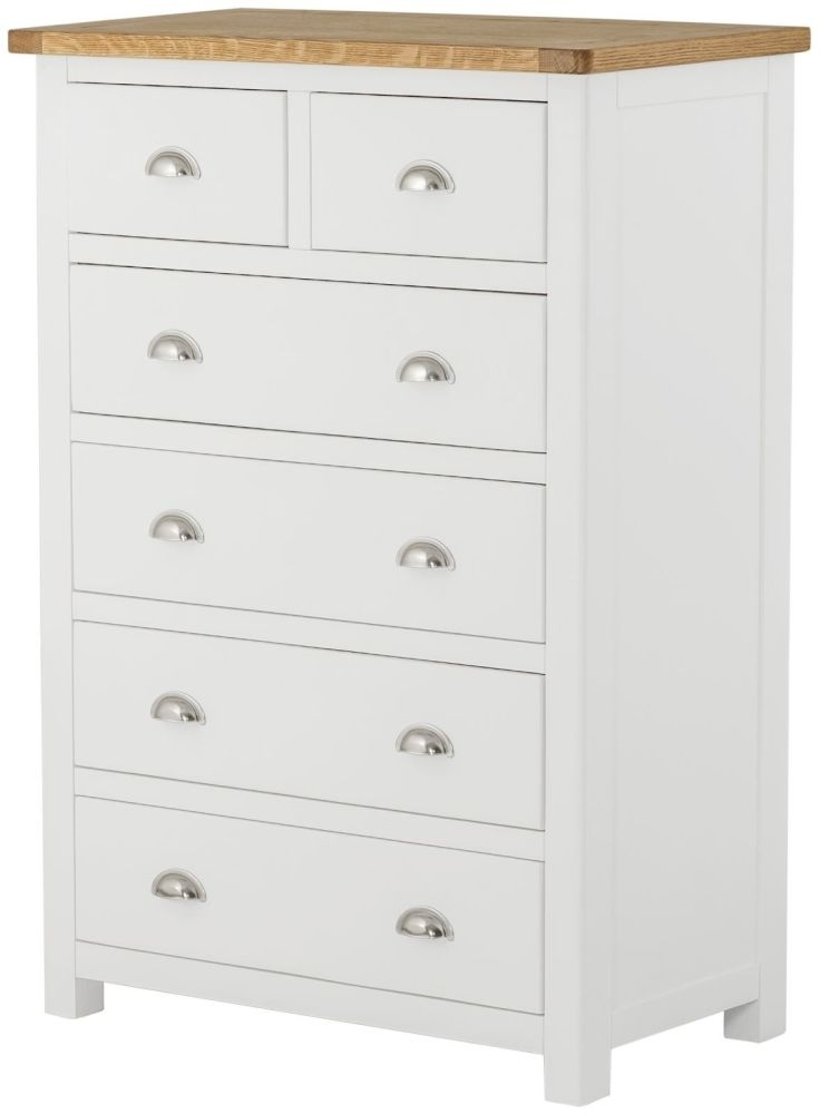 Portland Oak and White Painted 2+4 Drawer Chest