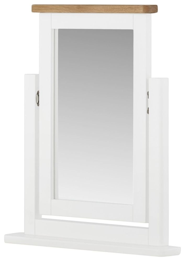 Portland White Swing Mirror