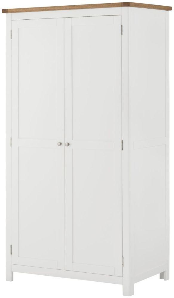 Portland 2 Door Wardrobe - Oak and White Painted