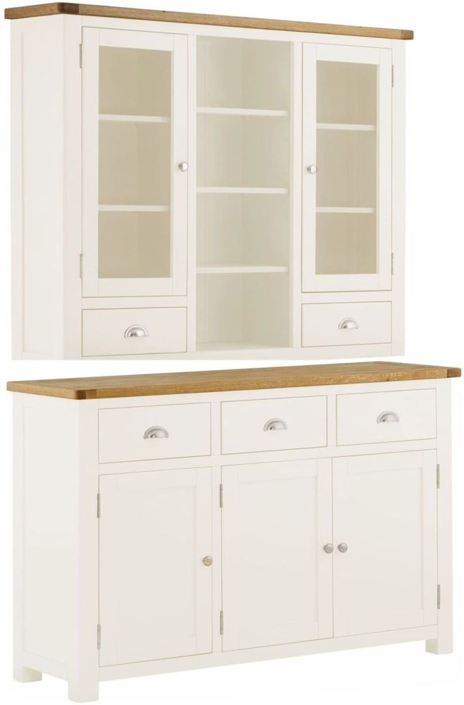 Portland Dresser - Oak and White Painted