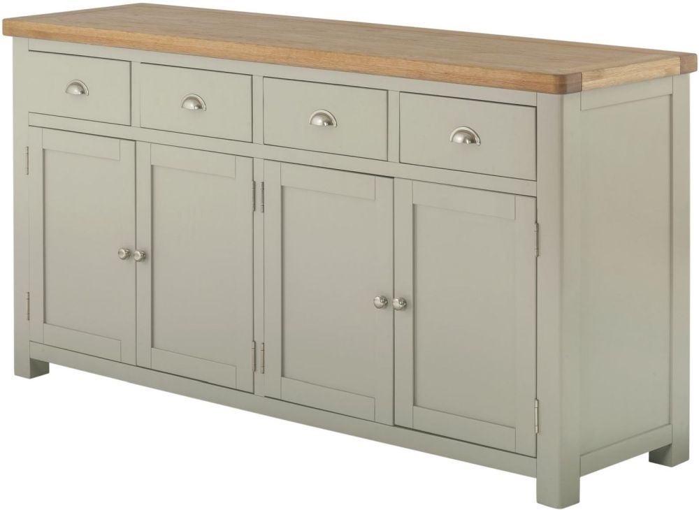 Portland Grand Large Sideboard - Oak and Stone Grey Painted