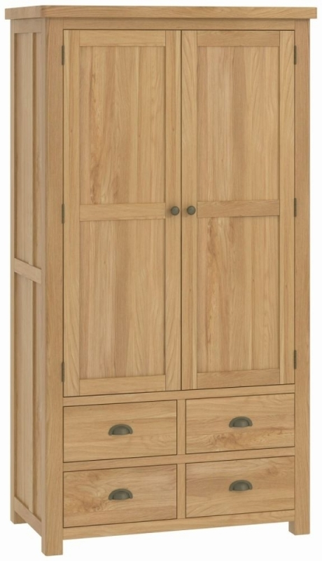 Portland Large Kitchen Larder Unit - Oak