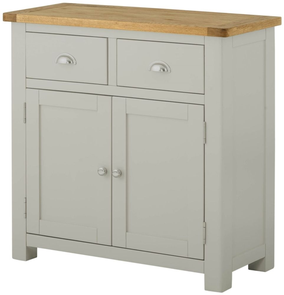Portland Stone Painted Sideboard - Narrow 2 Door 2 Drawer