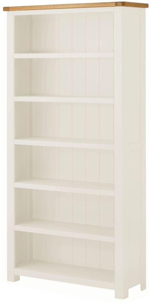 Portland White Painted Large Bookcase
