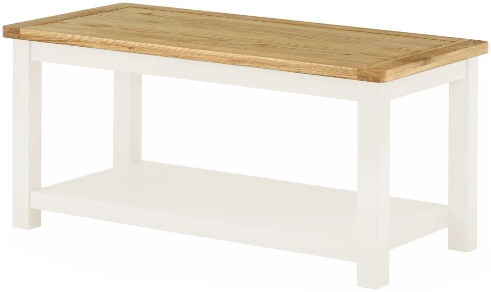 Portland Coffee Table - Oak and White Painted