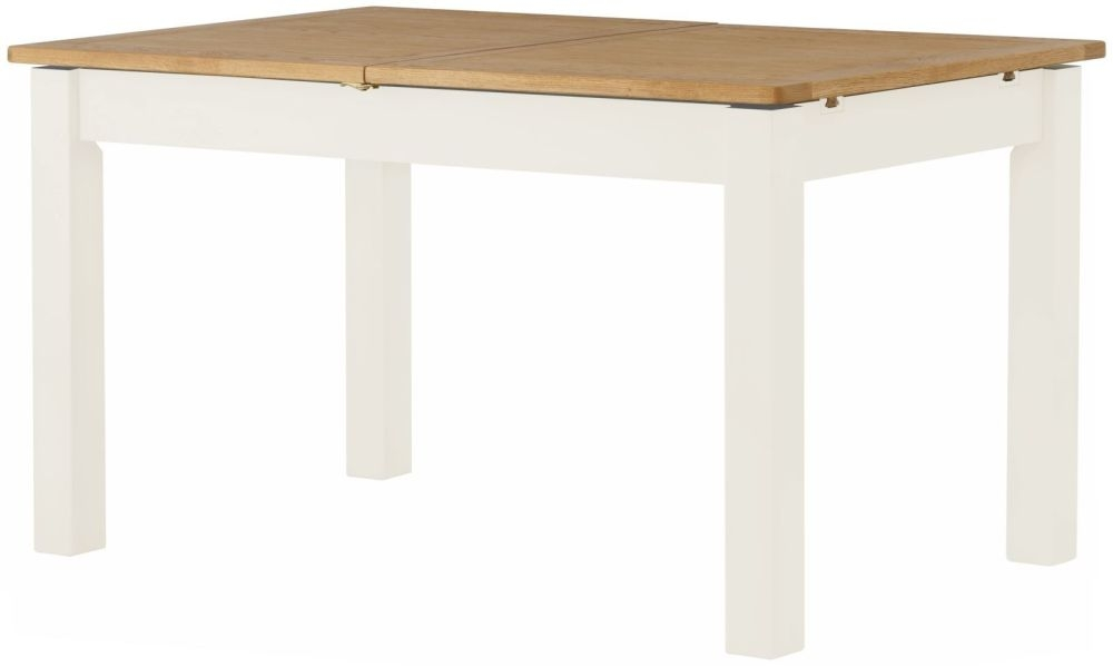 Portland White Painted Rectangular Extending Dining Table - 140cm-180cm