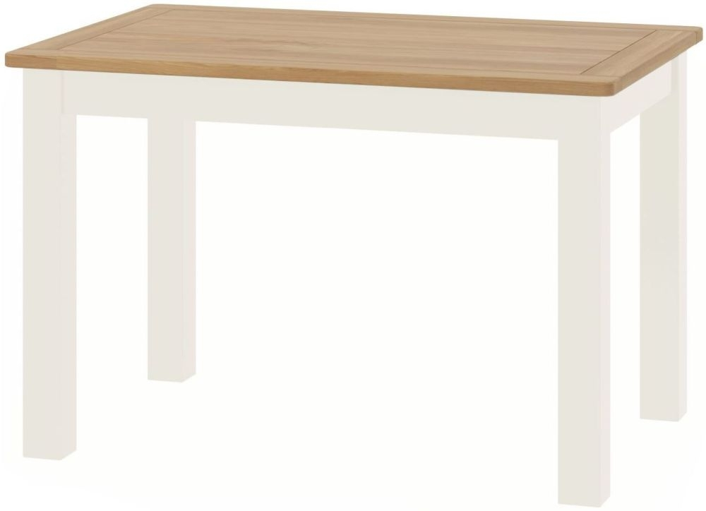 Portland Oak and White Painted 120cm Dining Table