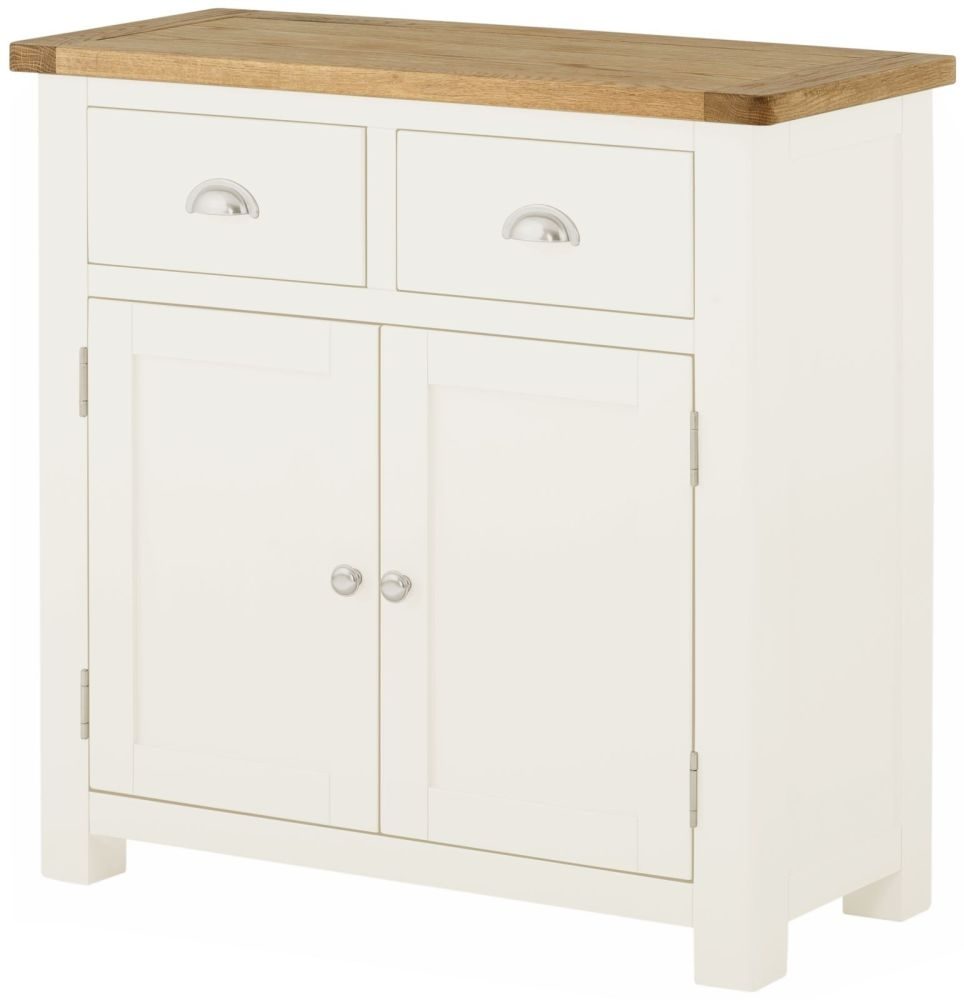 Portland White Painted 2 Door 2 Drawer Narrow Sideboard