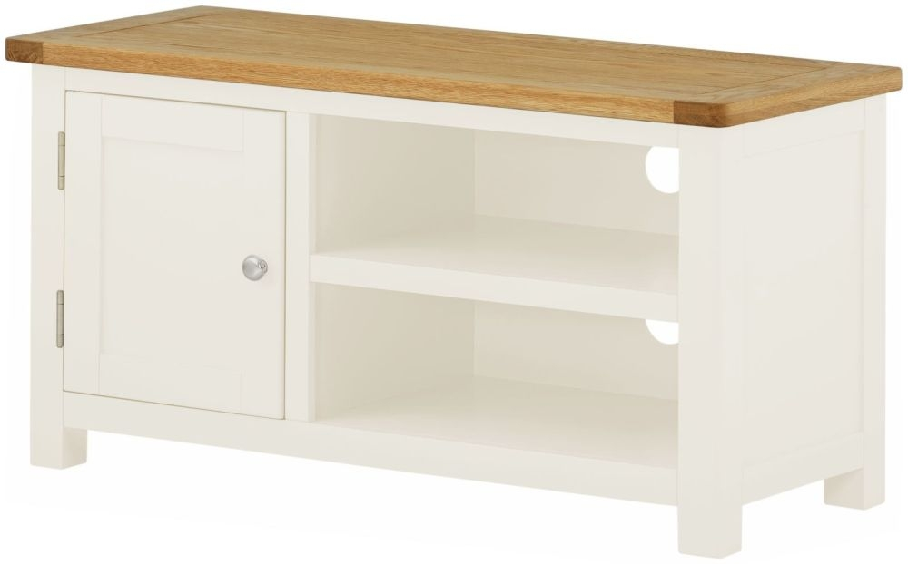 Portland TV Cabinet - Oak and White Painted