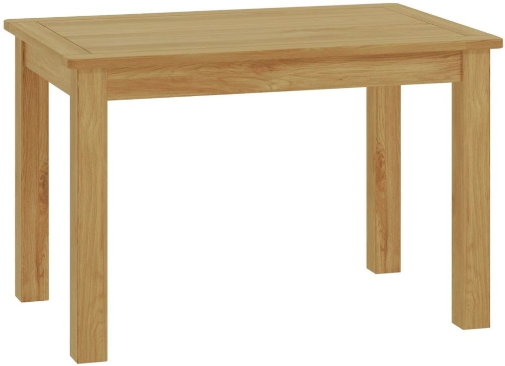 Portland Oak Rectangular Fixed Top Dining Table - 120cm