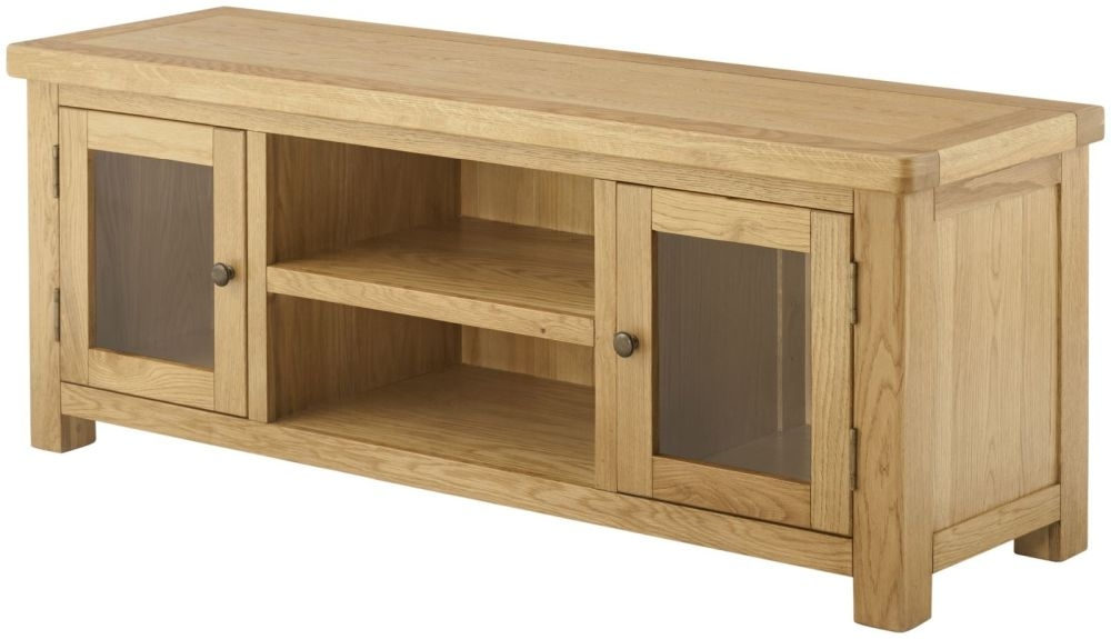 Portland Oak Grand TV Unit - 2 Door