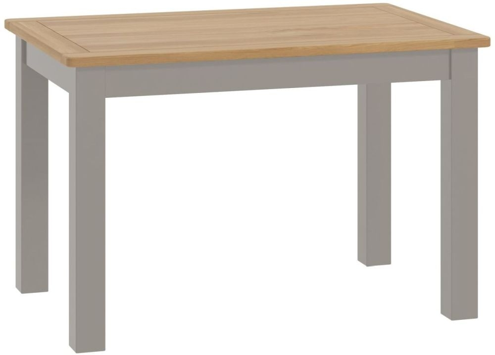 Portland Stone Rectangular Fixed Top Dining Table - 120cm