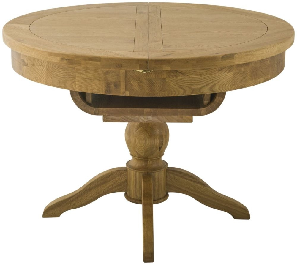 Portland Stone Grand Dining Table - 100cm-145cm Round Butterfly Extending