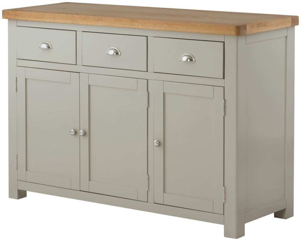 Portland Stone Grand Painted 3 Door 3 Drawer Wide Sideboard