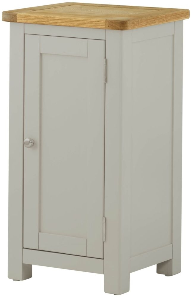 Portland Oak and Stone Painted 1 Door Hall Cabinet