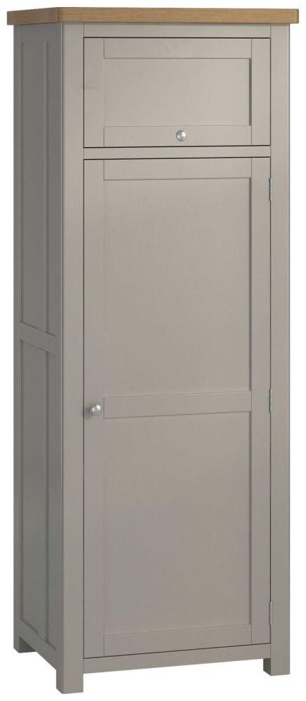 Portland Stone Painted Kitchen Larder Unit - 1 Door 1 Drawer Small