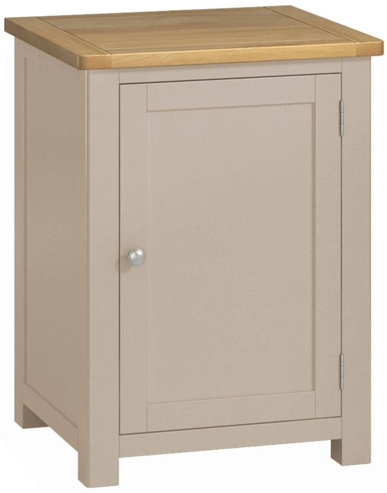 Portland Stone Painted Office Cabinet - 1 Door