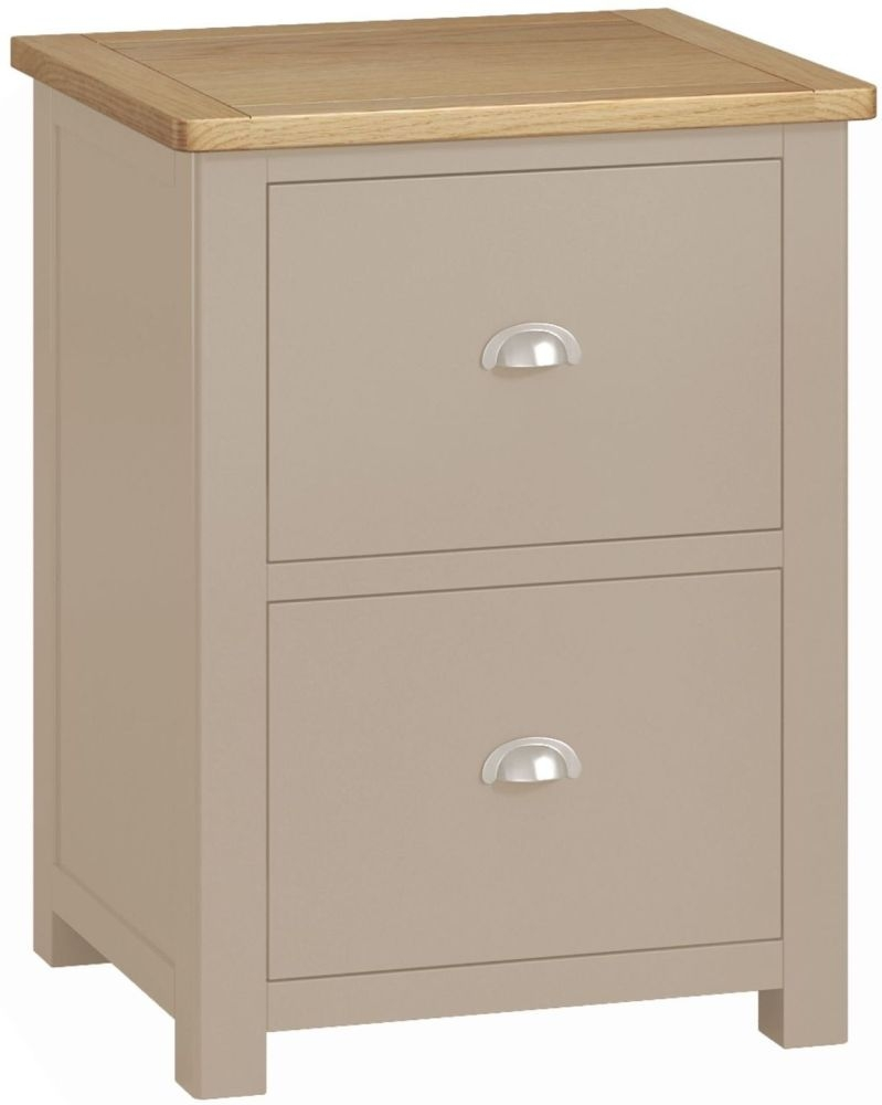 Portland Stone Painted 2 Drawer Office Filing Cabinet